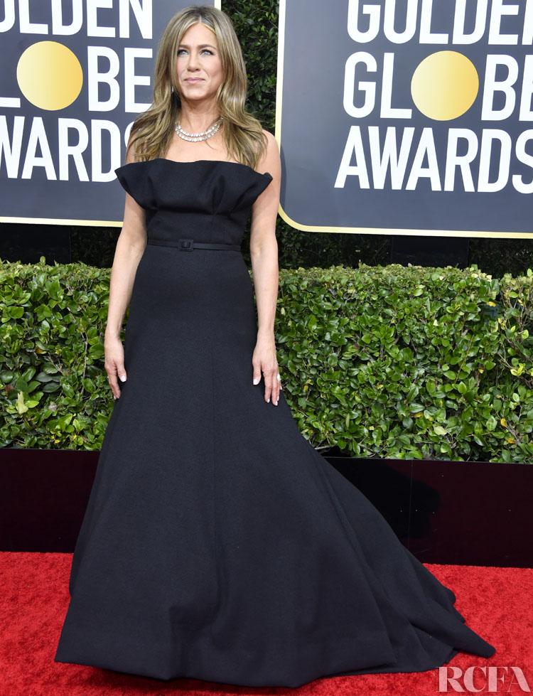 Jennifer Aniston In Christian Dior Haute Couture - 2020 Golden Globe Awards