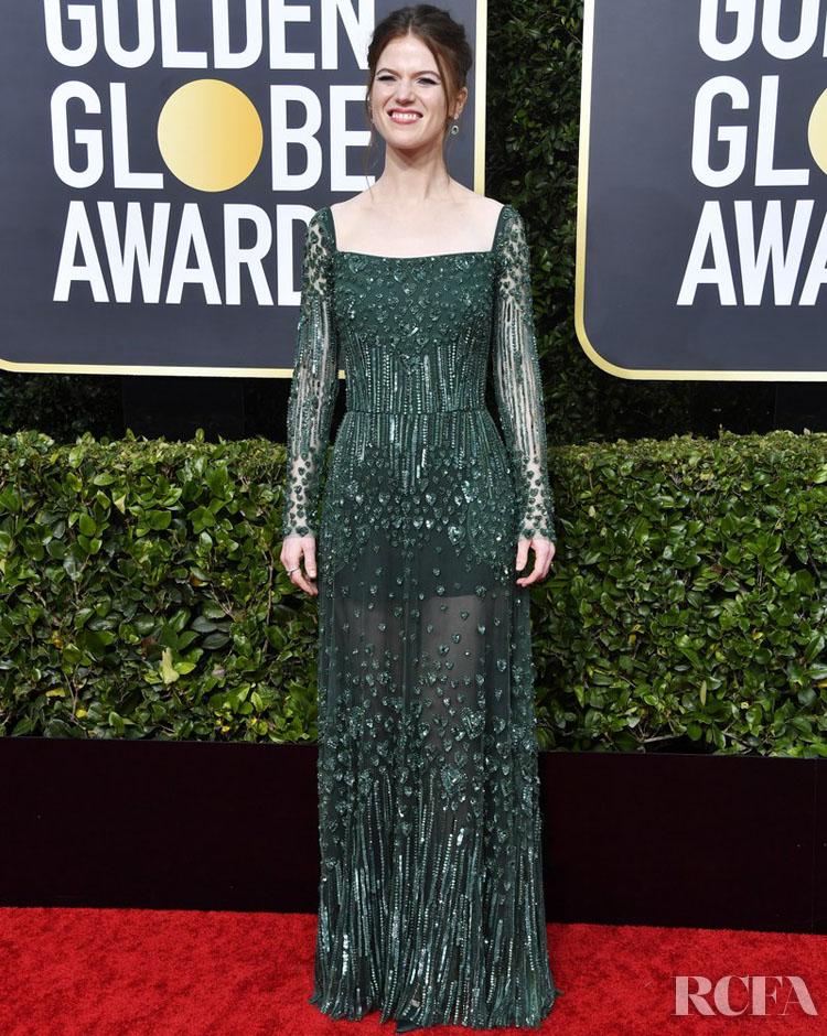 Rose Leslie in Ellie Saab 2020 Golden Globe Awards