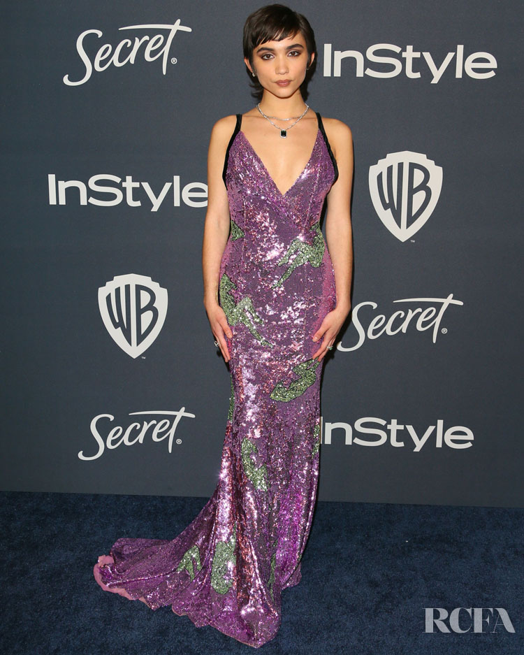 Rowan Blanchard Wore Miu Miu To The InStyle Golden Globe After Party