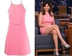 Selena Gomez's Miu Miu Crystal Trim Mini Dress