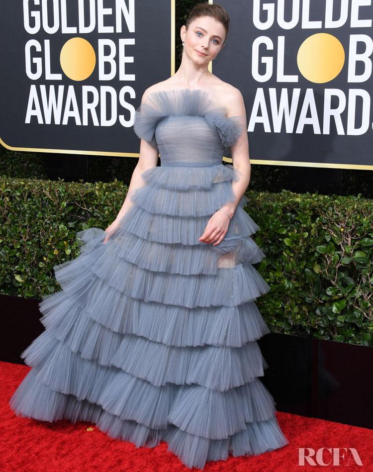 Thomasin Mckenzie In Valentino Haute Couture - 2020 Golden Globe Awards
