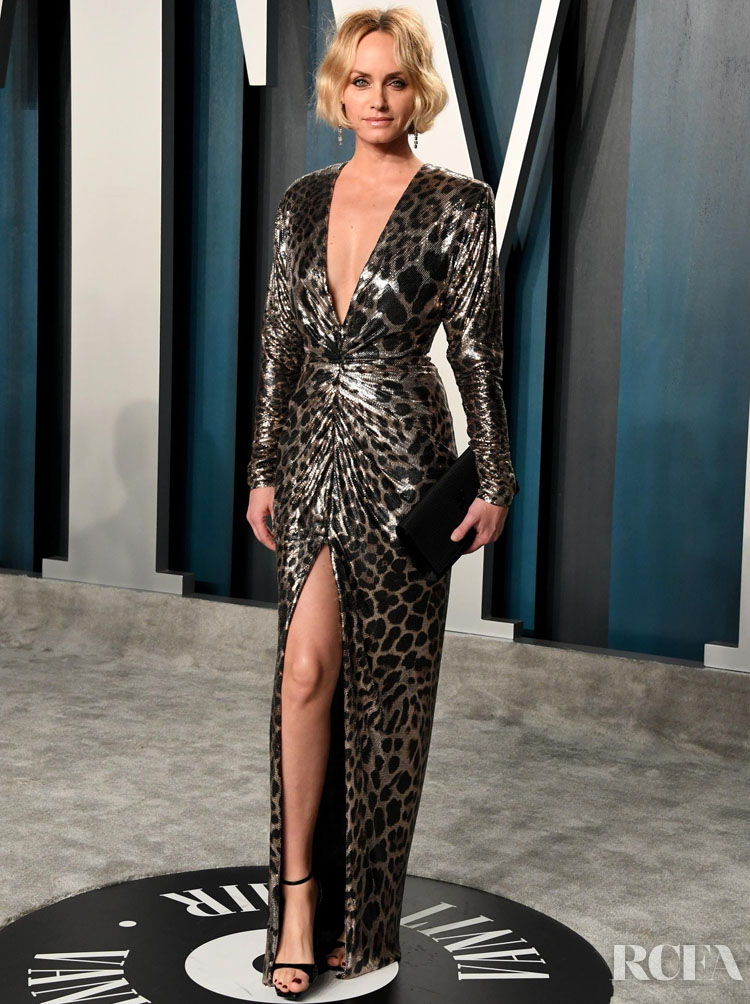 AMBER VALLETTA in Saint Laurent - 2020 Vanity Fair Oscars Party