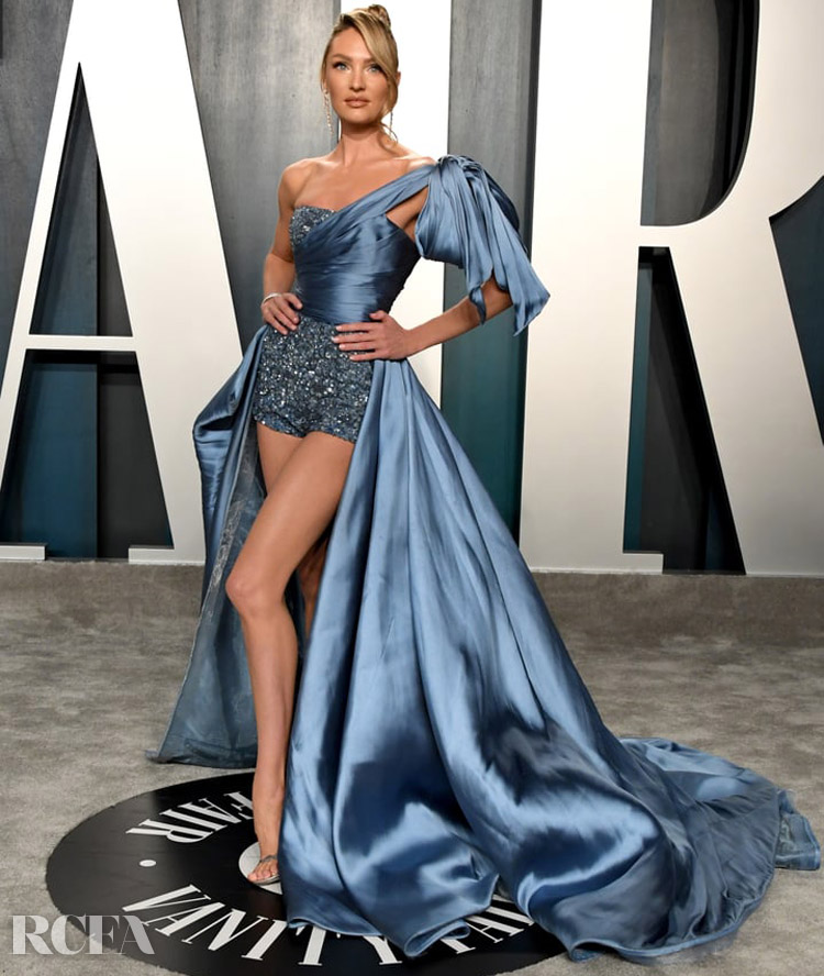 Candice Swanepoel in Zuhair Muard  Couture - 2020 Vanity Fair Oscar Party