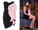 Dakota Johnson's Alexandre Vauthier Gathered Two-Tone Dress