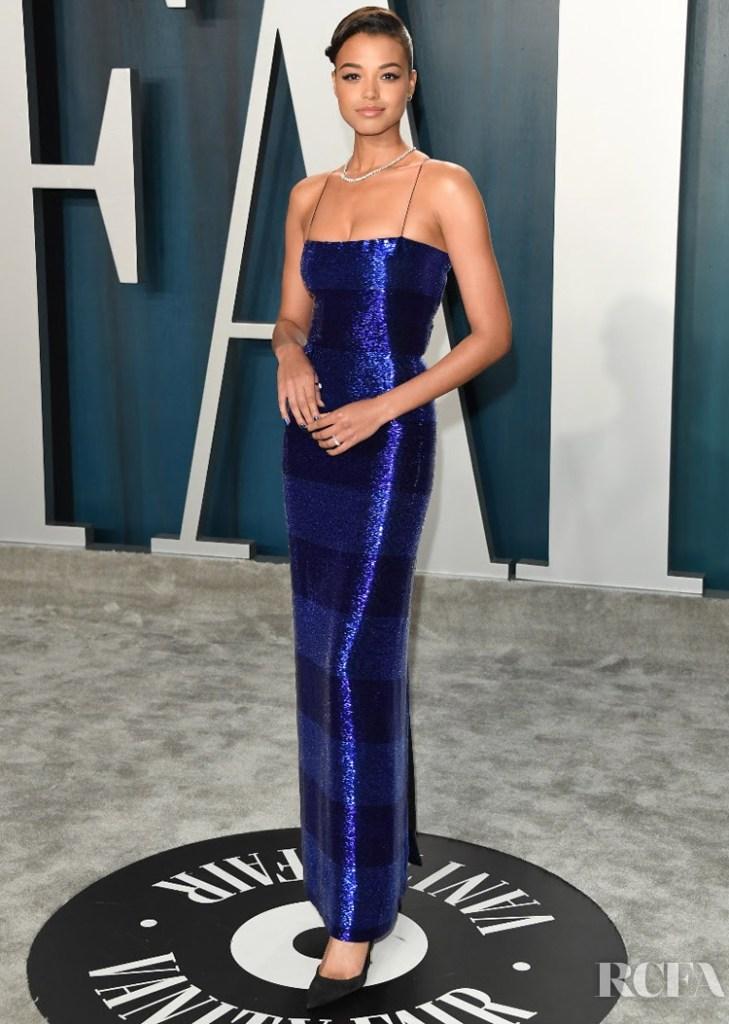 Ella Balinska Schiaparelli Haute Couture The 2020 Vanity Fair Oscar Party