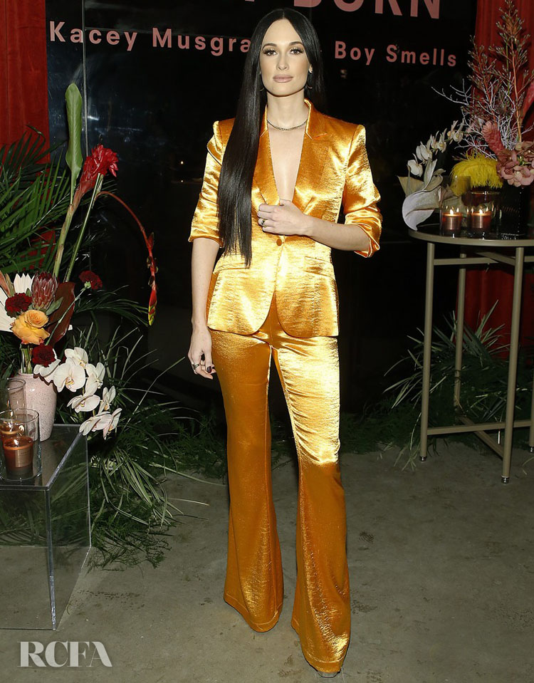 Kacey Musgraves Wore Cinq à Sept To The Boy Smells launch 'Slow Burn'