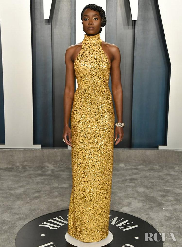 Kiki Layne In Michael Kors Collection The 2020 Vanity Fair Oscar Party