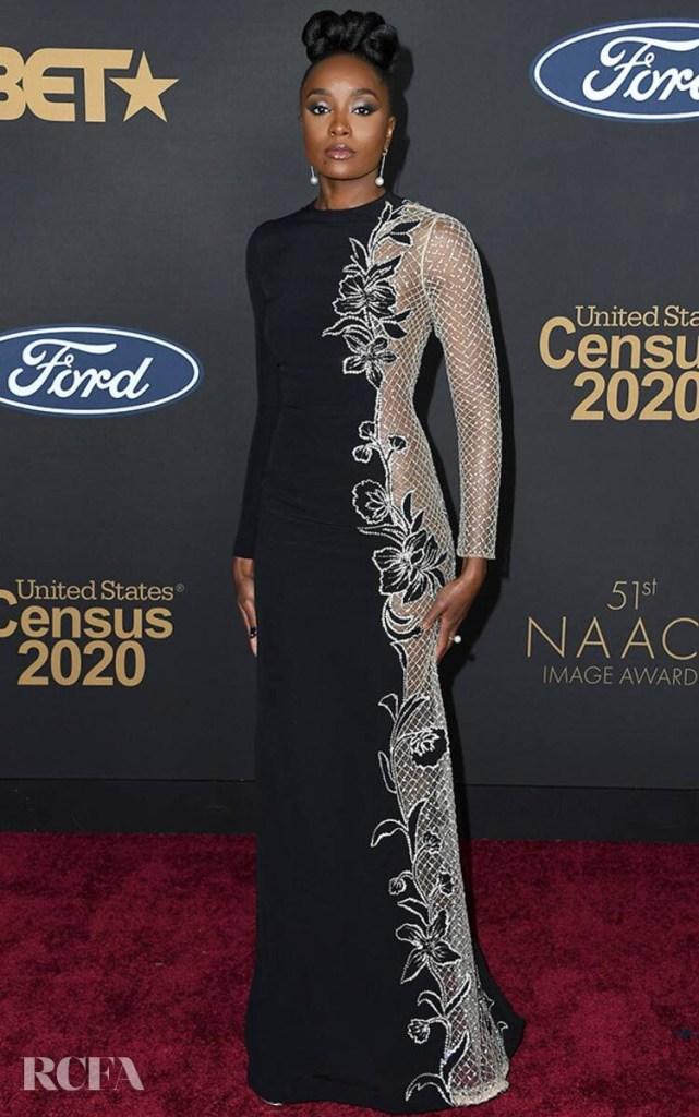 Kiki Layne In Oscar de la Renta  2020 NAACP Image Awards