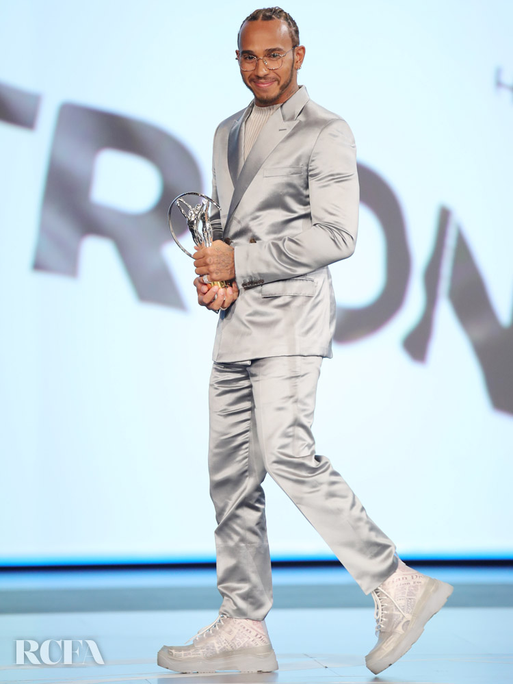 Lewis Hamilton Wore Dior Men To The 2020 Laureus World Sports Awards