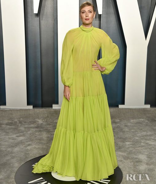 Maria Sharapova in Valentino - The 2020 Vanity Fair Oscar Party