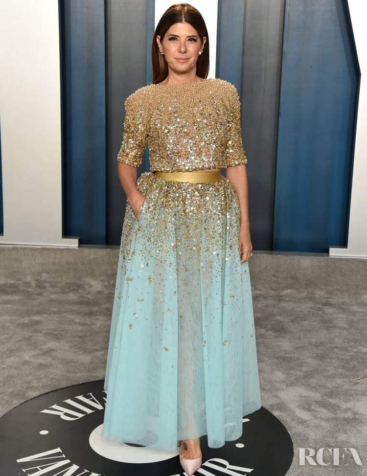 Marisa Tomei Georges Hobeika Couture The 2020 Vanity Fair Oscar Party