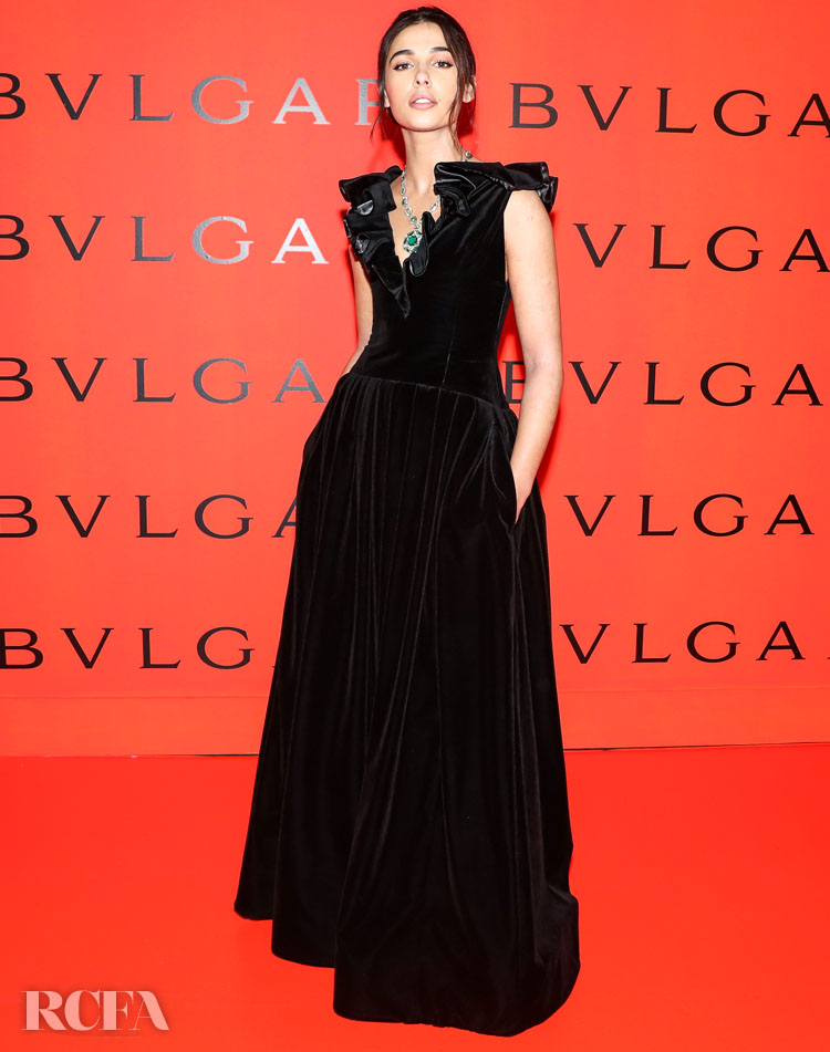 Naomi Scott Wore Prabal Gurung To The Bvlgari B.Zero1 Rock Party