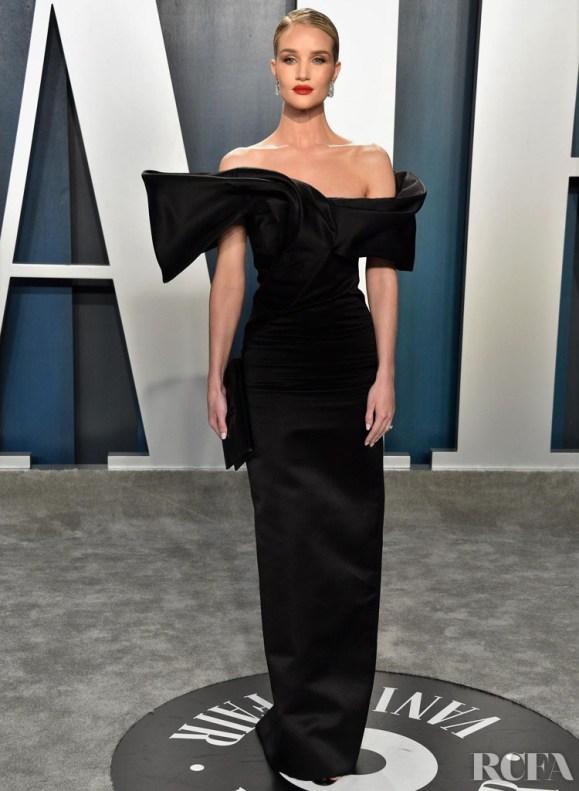ROSIE HUNTINGTON-WHITELEY in Saint Laurent Vanity Fair Oscars Party