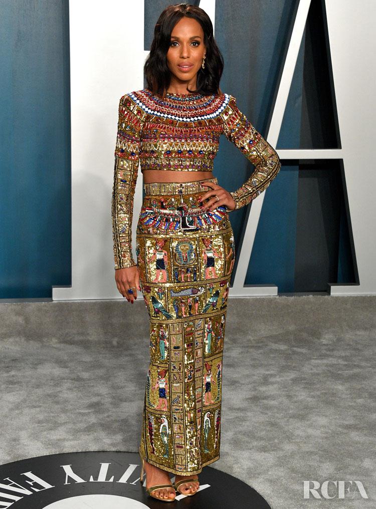 kerry washington in zuhair murad couture 2020 Vanity Fair Oscar Party