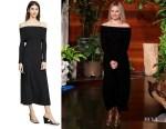 Kristen Bell's Rosetta Getty Banded Off The Shoulder Dress