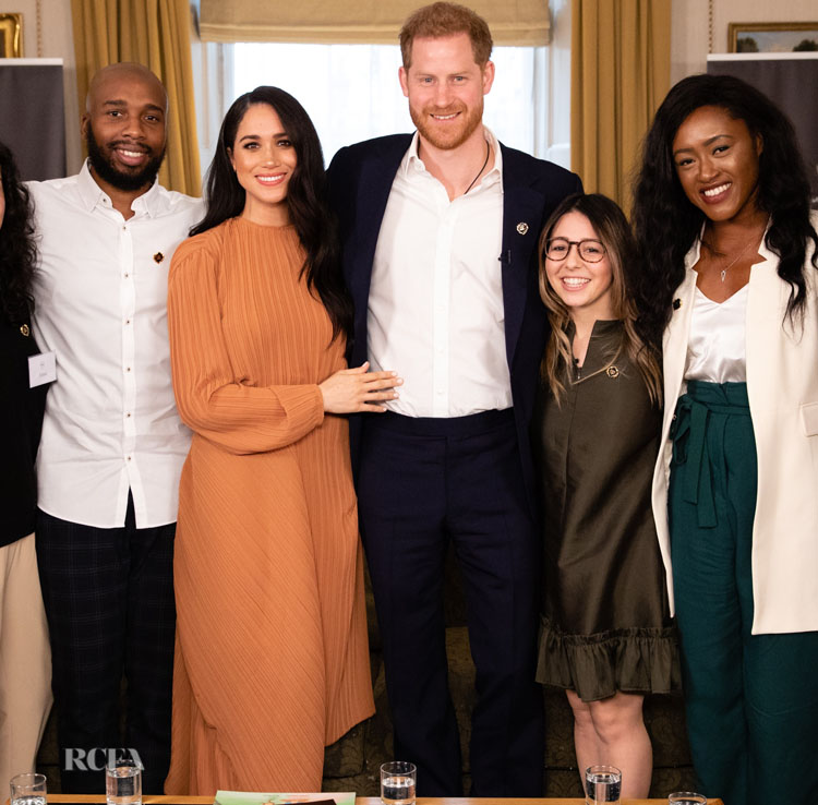 Meghan, Duchess of Sussex Wore Preen For The Queen's Commonwealth Trust in Conversation