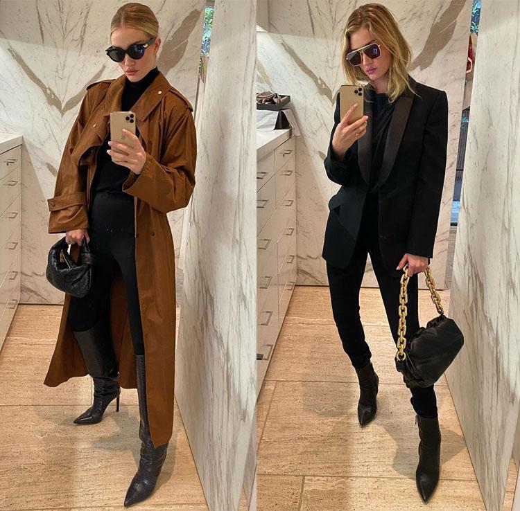Rosie Huntington-Whiteley's Walk-In Closet Instagram Style
