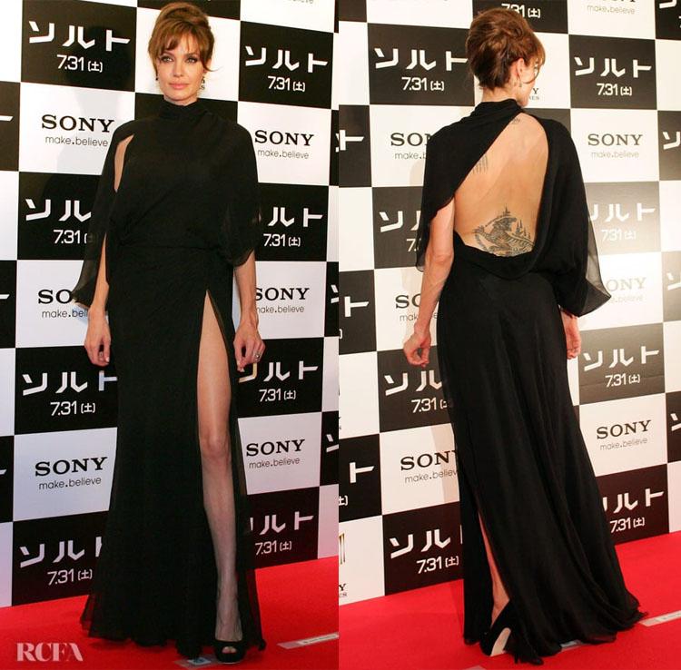 Angelina Jolie 'Salt' Japan Premiere in Versace