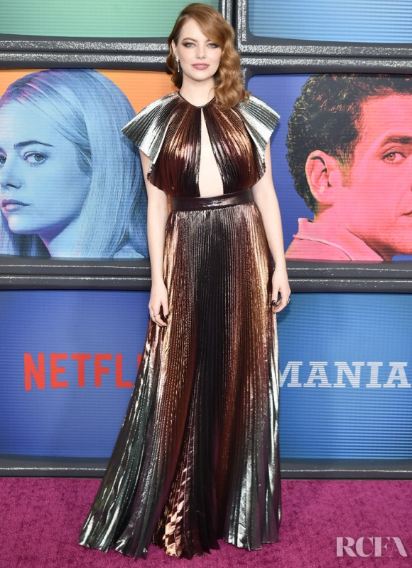 Clare Waight Keller's Most Memorable Moments For Givenchy - Emma Stone In Givenchy – Netflix Original Series 'Maniac' New York Premiere
