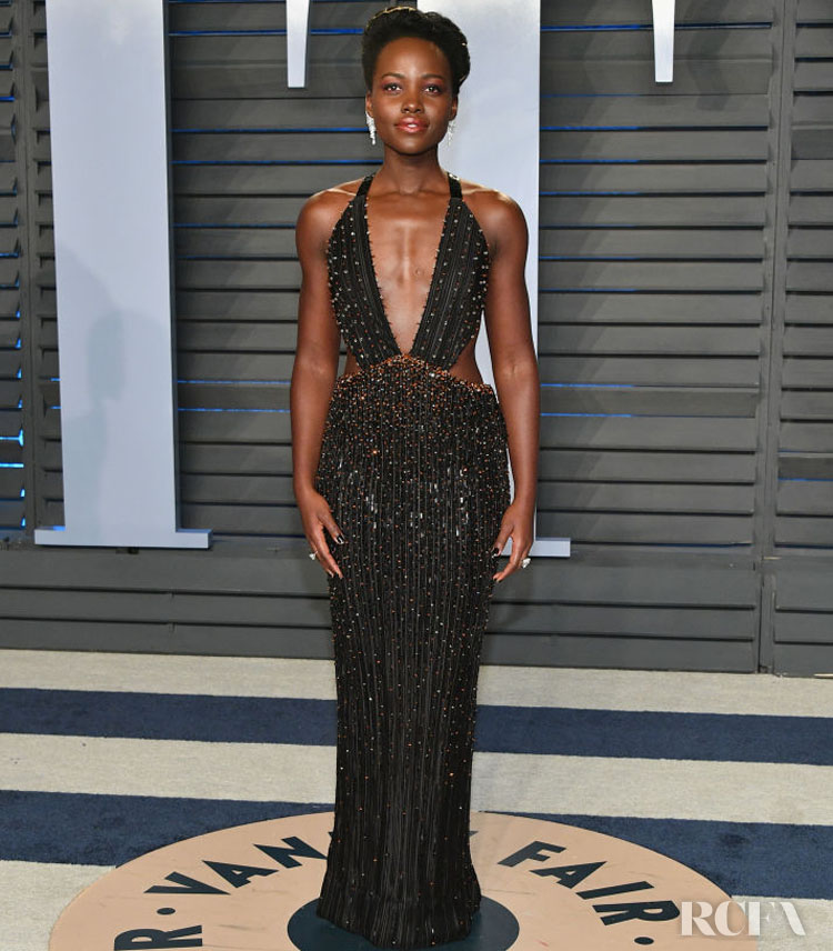 Lupita Nyong'o In Armani Privé – 2018 Vanity Fair Oscar Party