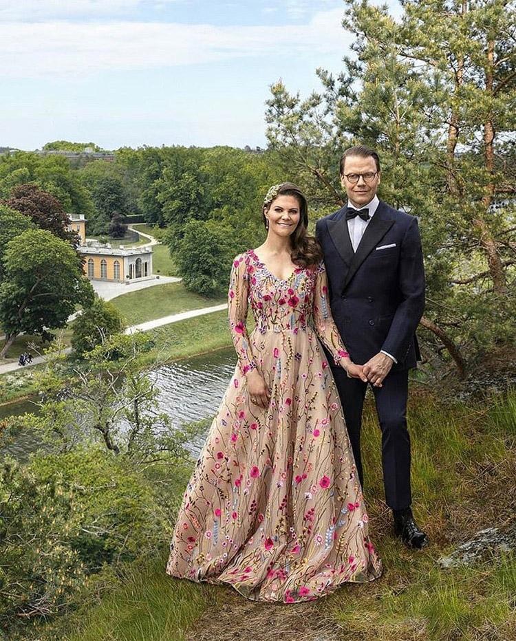 Crown Princess Victoria Celebrates Her 10th Wedding Anniversary In Frida Jonsvens Couture, H&M & Elie Saab Haute Couture