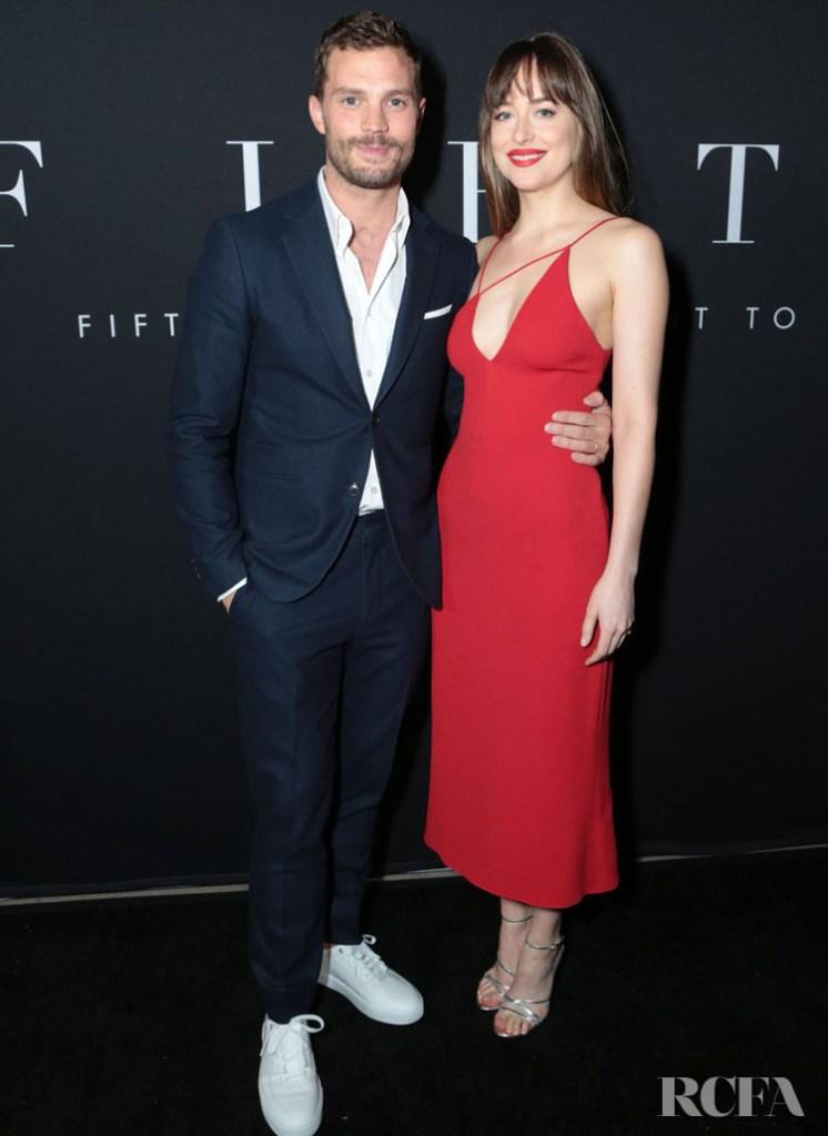 Dakota Johnson In Cushnie et Ochs – 'Fifty Shades Freed' LA Premiere
