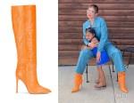 Kylie Jenner's Paris Texas Croc-Embossed Boots