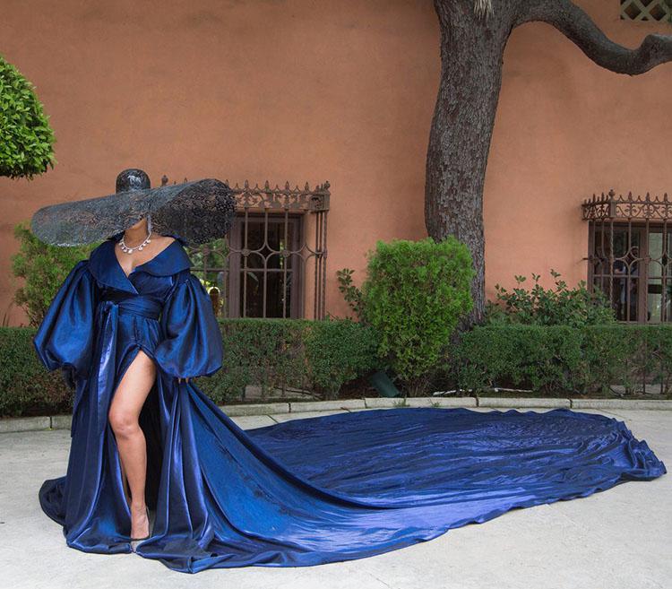 Beyonce Alejandro blue dress Black is King