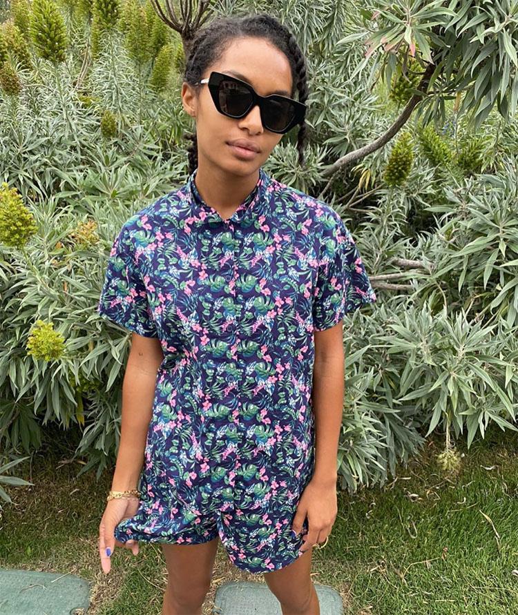 Yara Shahidi's Uniqlo Pajama Chic Set
