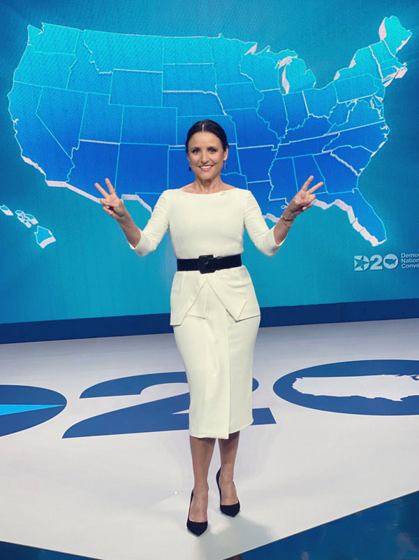 Julia Louis-Dreyfus Wore Roland Mouret For The 2020 Democratic National Convention Event