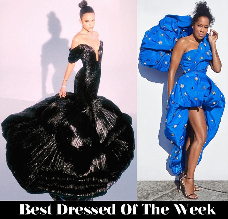 Best Dressed Of The Week - Bruna Marquezine In Ashi Studio Couture & Regina King In Schiaparelli Haute Couture