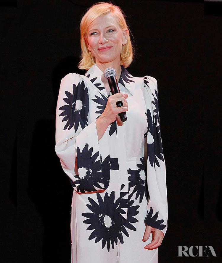 Cate Blanchett Wore Stella McCartney To The Campari Boat Cinema 'Mrs America' Mini-Series Screening