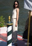 Katherine Waterston Wore Christian Dior Arriving At The Excelsior Hotel