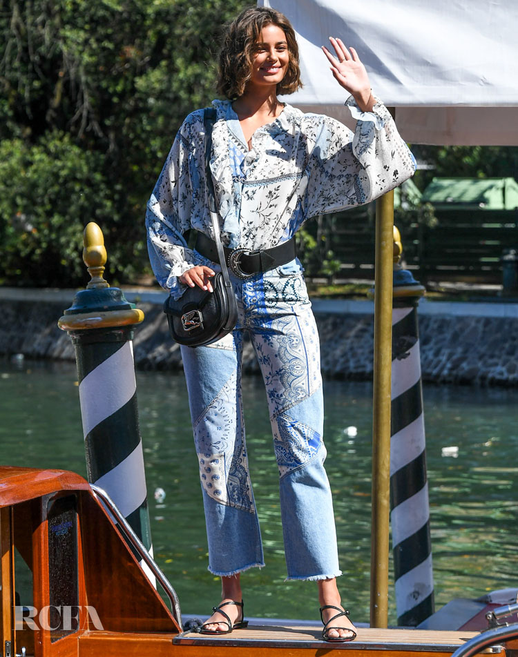 Taylor Hill Wore Etro On The Opening Day Of The 2020 Venice Film Festival