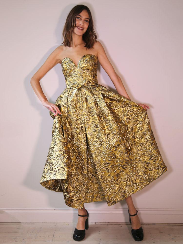 Alexa Chung in Prada 2020 Green Carpet Fashion Awards