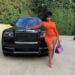 Cardi B Dons Orange JLuxLabel While Posing Alongside Her Rolls-Royce Truck