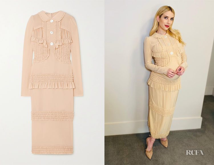 Emma Roberts' Miu Miu Ruffled Dress