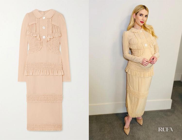 Emma Roberts' Miu Miu Ruffled Dress