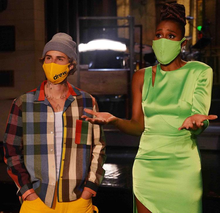 Issa Rae Green David Koma Dress SNL