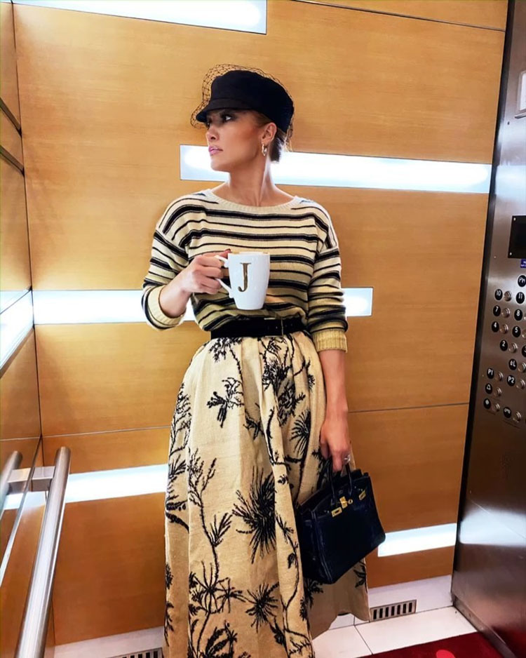 Jennifer Lopez Starts Her Day With A Cup of Joe & Dior
