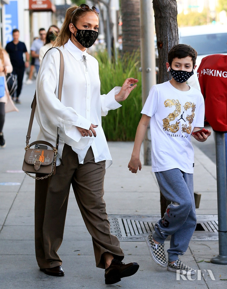 Jennifer Lopez's Wore Brunello Cucinelli Shopping On Rodeo Drive