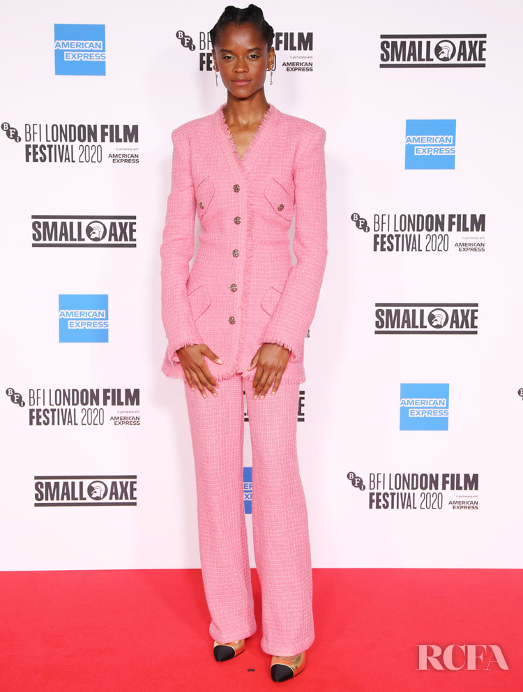 Letitia Wright Wore Chanel To The 'Mangrove' London Film Festival Premiere