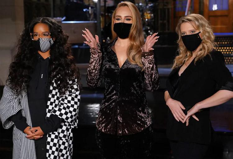 Adele Wore Acne Hosting Saturday Night Live