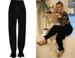 Ashley Roberts' River Island Black Cinched Hem Trousers