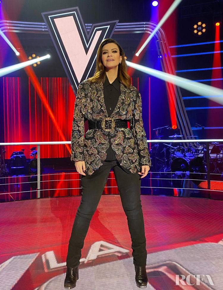 Laura Pausini Wore Etro On 'La Voz'