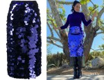 Mandy Moore's AMI Paris Sequin Embroidered Midi Skirt