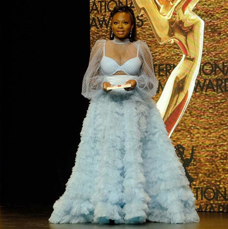 Naturi Naughton Wore Morphine To The 2020 International Emmy Awards