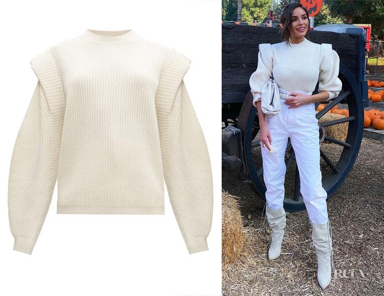 Olivia Culpo's Isabel Marant Bolton Extended-Shoulder Sweater