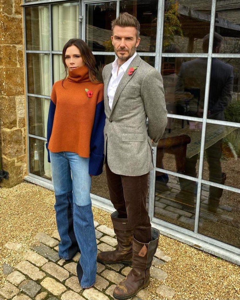 Victoria Beckham's Remembrance Sunday Laidback Look