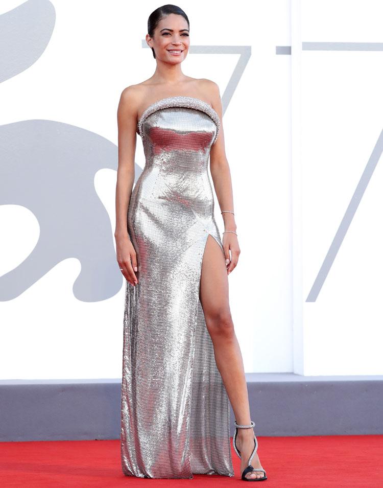 Elodie in Versace - 'Lacci' Venice Film Festival Premiere